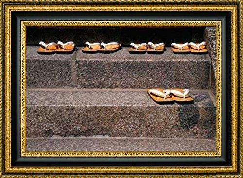 framed-canvas-print-wall-art-japan-kyoto-zori-sandals-on-steps-of-a-shrine-by-nancy-steve-ross-16-x-