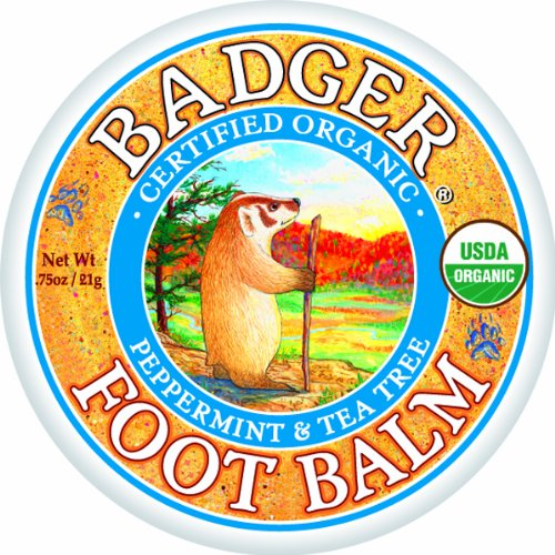 Badger Foot Balm Certified Hydrate & Réparations organique sec 21g Pieds Cracked