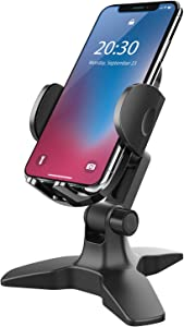 Universal Phone Stand, Phone Stand for Desk, Desk Phone Holder, Heavy Duty Desk Phone Holder with 360 Degree Adjustale Cradle,Multi-Purpose Desk Stand for iPhone, All Smartphones