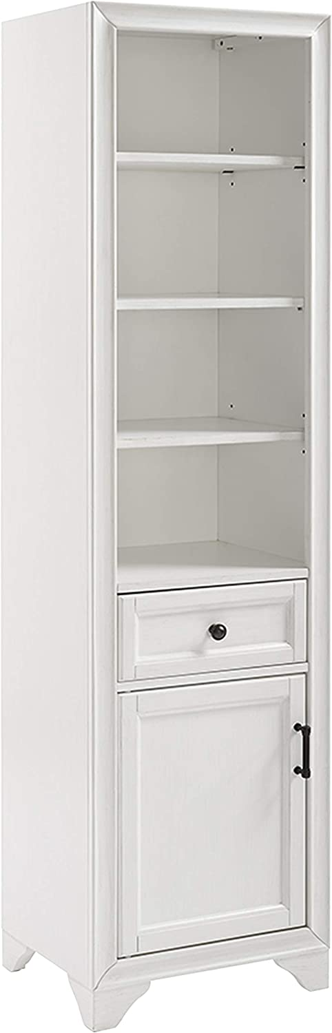 Crosley FurnitureTara Bathroom Linen Cabinet, Vintage White