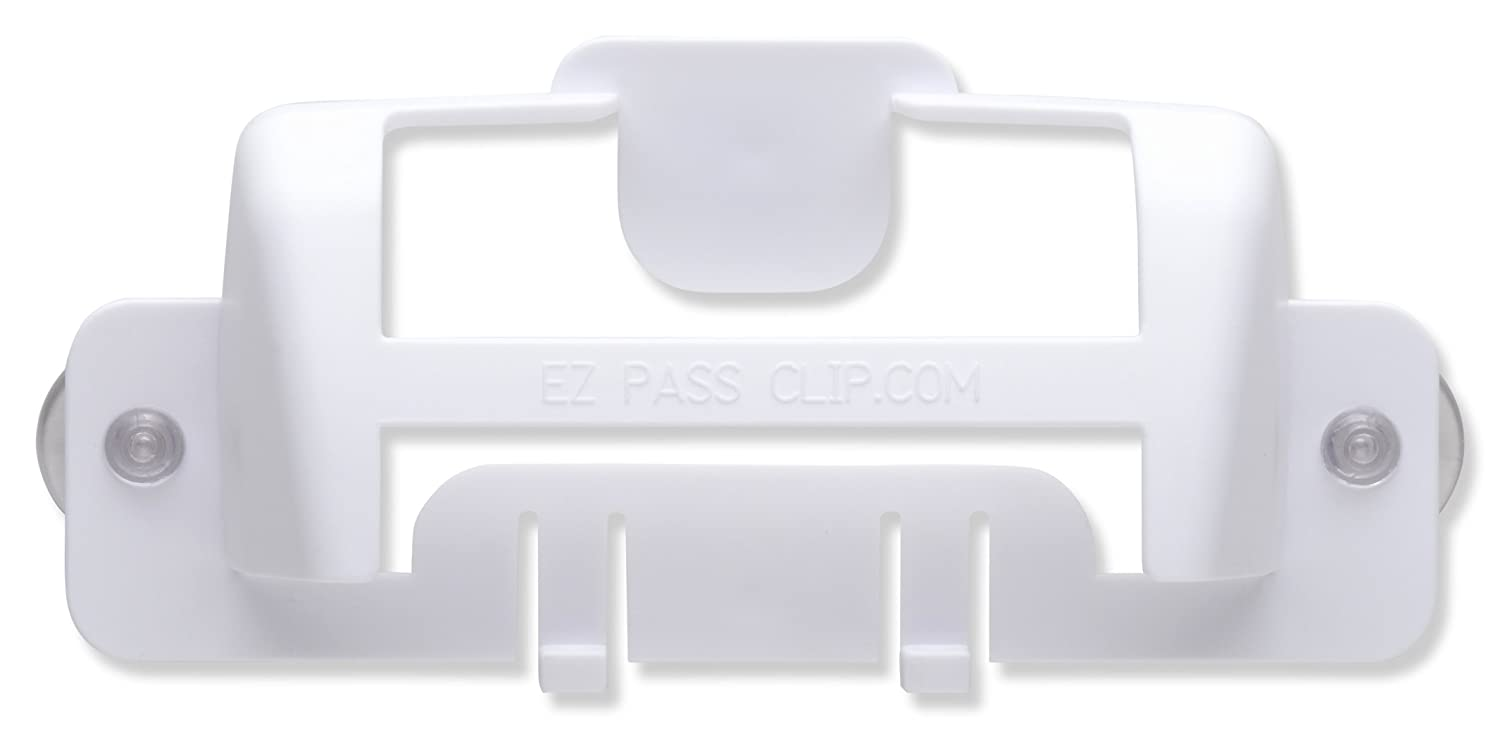 NuCorp17 Inc White eZpassClip New EZ Pass Holder for New Part #814 Small Toll Tag Transponder