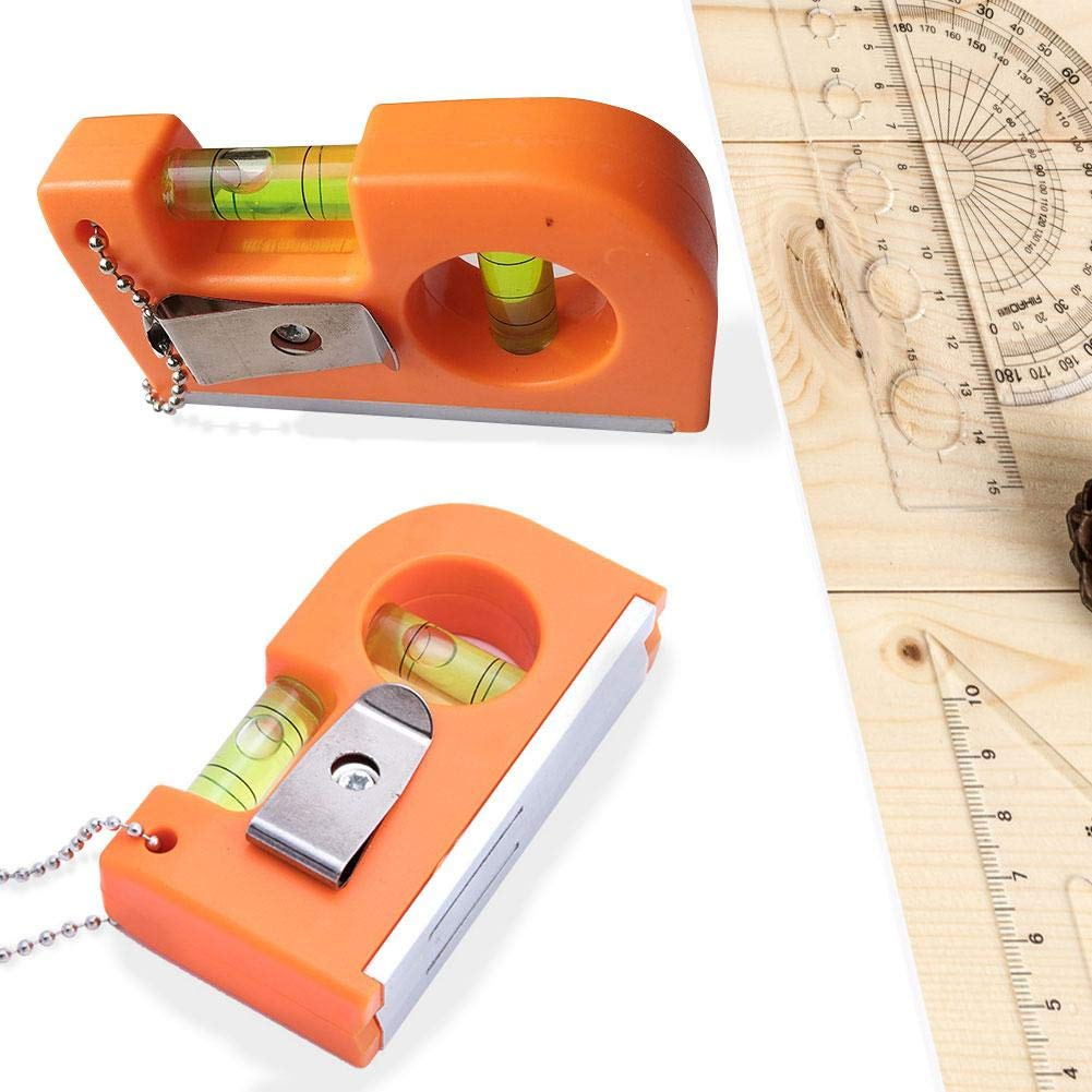 Magnetic Mini Pocket Level Tool Scaffold Level Two Bubble Spirit Leveler with Portable Chain and Hook PER Spirit Level
