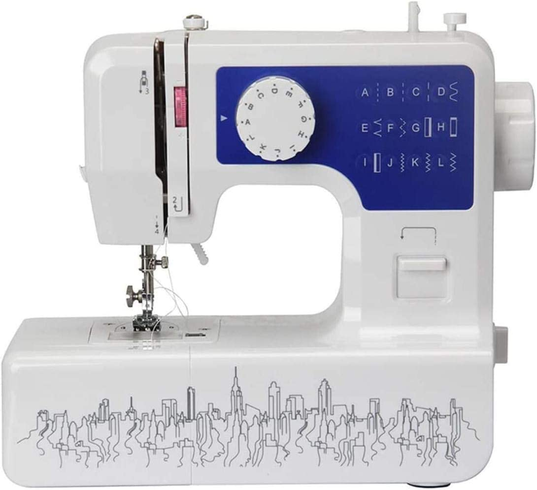 Cesto sucio Bolsa de Costura Máquina de Coser Portable de la lámpara 12 Puntos de sutura Multifuncional 2 Speed Heavy Duty Coser Máquinas de iniciación de los niños Máquina de reparación