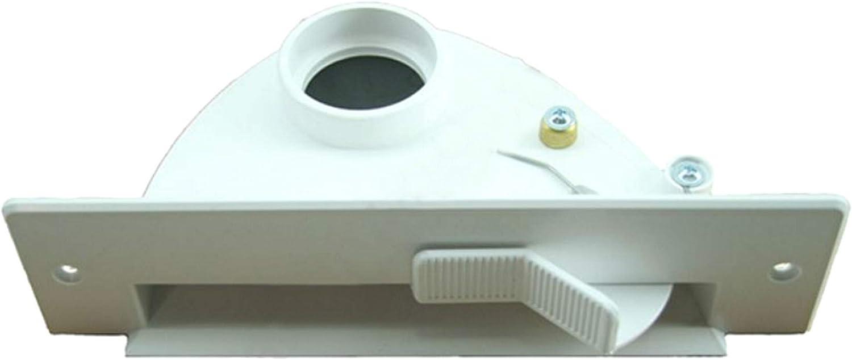 Maxorado ZS1 - Recogedor para aspiradora central, con mecanismo de inclinación, pieza de repuesto compatible con VacPan BVC Vac-Pan de 2 pulgadas