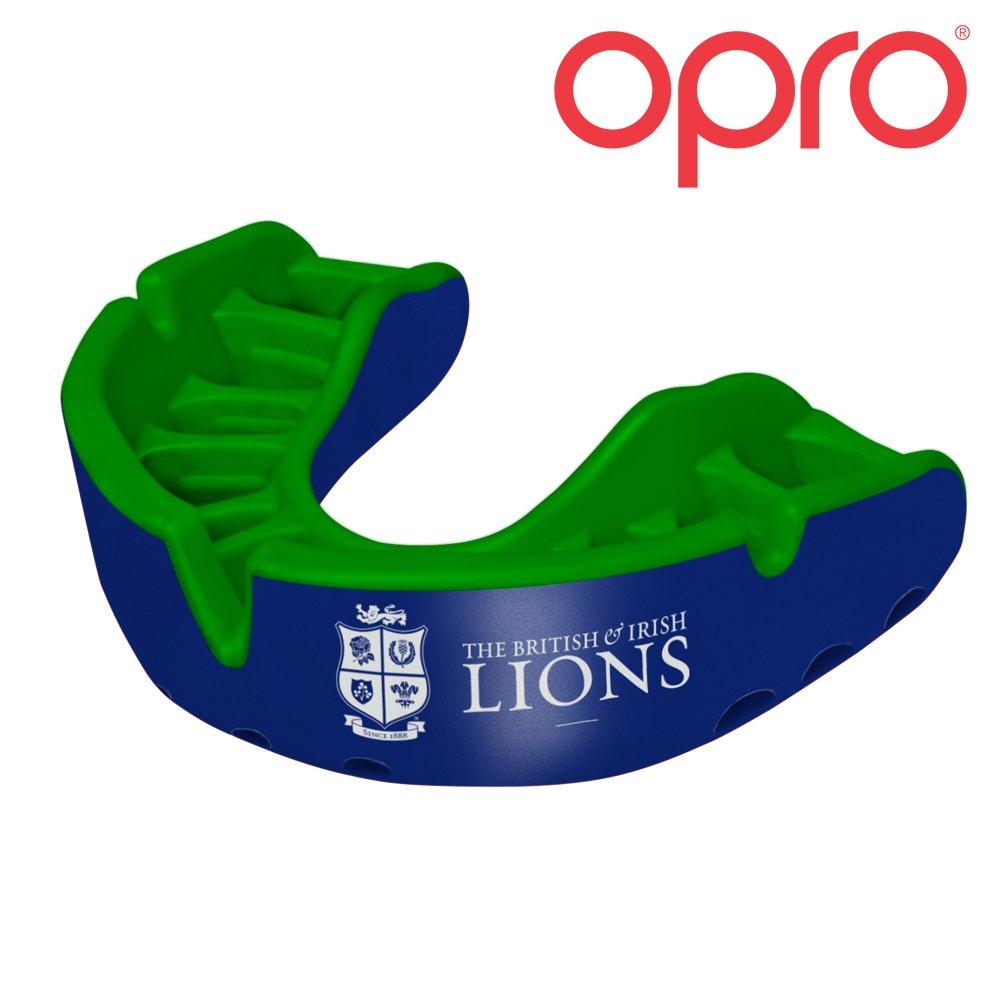 British & Irish Lions 2017oro adulti paradenti–rosso/bianco, Uomo, Blue/Green, Taglia unica OPRO