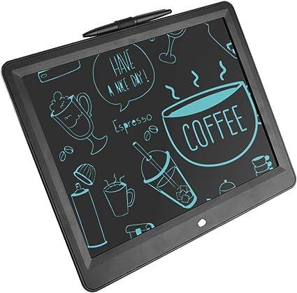 LCDライティングタブレット、15インチ電子デッサンおよびライティングボード超薄型グラフィックスドローイングタブレットギフトキッズオフィスライティング手書きパッド