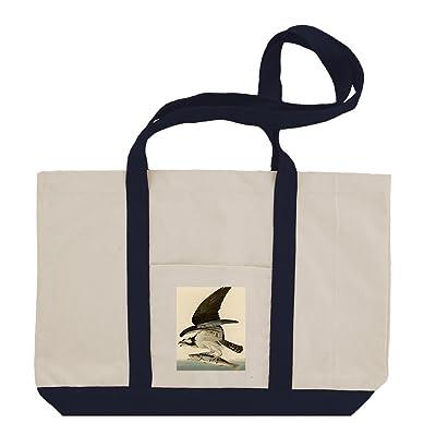 fd816895c997 high-quality Fish Hawk Or Osprey (Audubon) Cotton Canvas Boat Tote ...