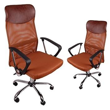Ergonómico BSX - Respaldo alto silla de oficina de malla, - Silla ...