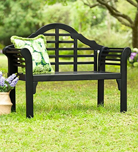 Cheap Plow & Hearth 62A79-BK Lutyens Eucalyptus Wood Garden Bench, Black
