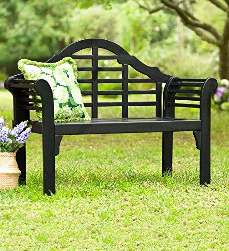 Bench Black (Lutyens Wood Garden Bench, in Black)