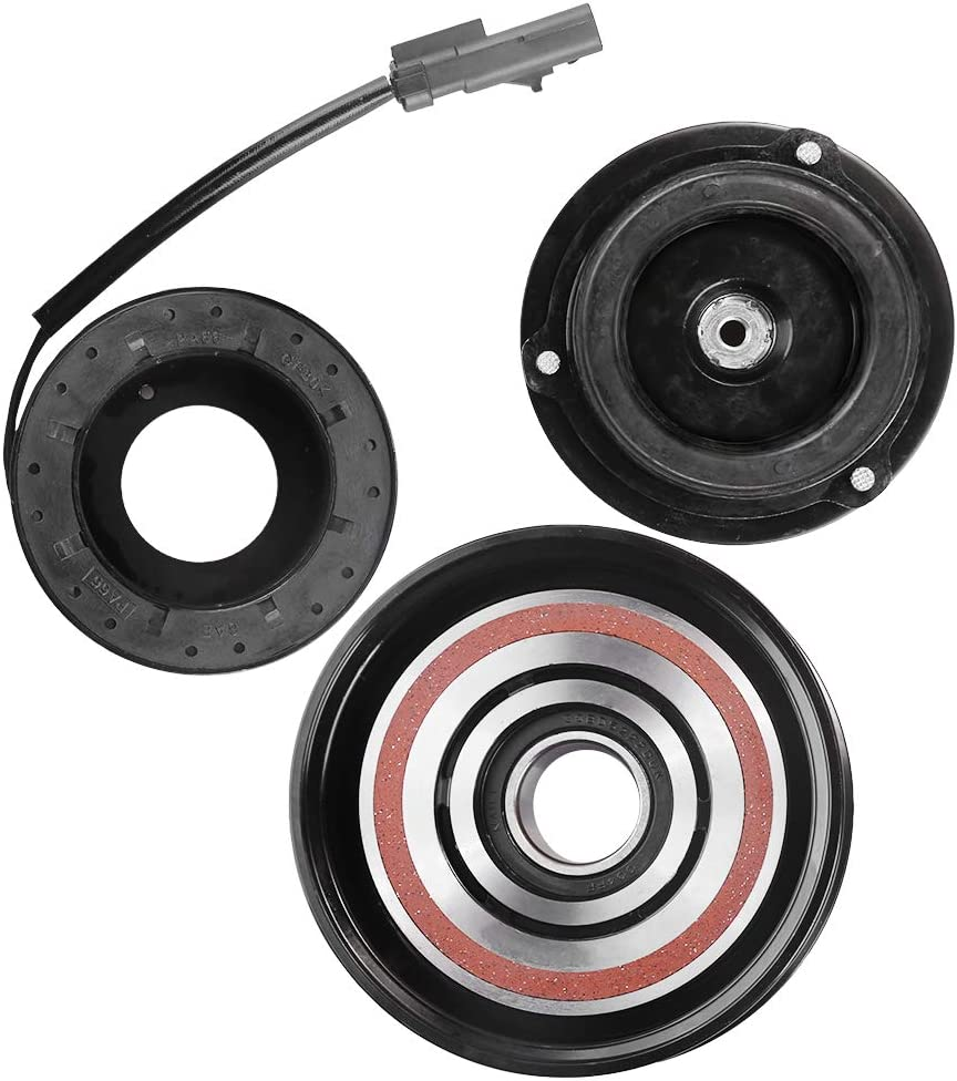 2010 Jeep Grand Cherokee 6 CYL 3.7L 10SR15E AC A//C Compressor Clutch Kit PULLEY, BEARING, COIL, PLATE