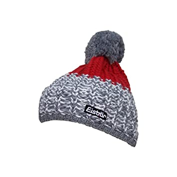 50f8e595415 Eisbär Pompon Cap Focus Grey Red Size One Size  Amazon.co.uk  Sports ...