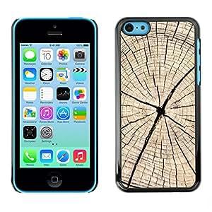Print Motif Coque de protection Case Cover // V00002781 Textura de madera del corte // Apple iPhone 5C