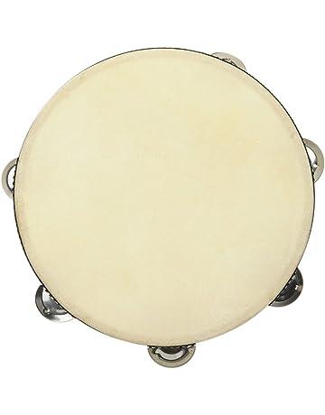 Único de Jingle pandereta de madera redonda de mano pandereta tambor instrumento de percusión para KTV