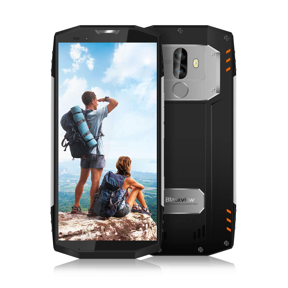 """Movil Antigolpes, Blackview BV9000 Smartphone 4G de 5.7"""" FHD (4GB RAM + 64GB ROM, Batería 4180 mAh, Camersa 13MP, Android 7.1, 12V2A Fast Charge, IP68 Impermeable Movil Todoterreno)"""