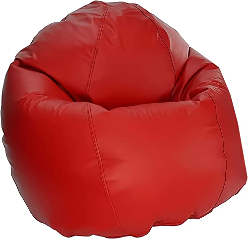 Bean Products Large Vinyl Bean Bag Chair | Filled w/ Polystyrene Beads CertiPUR Foam | Made