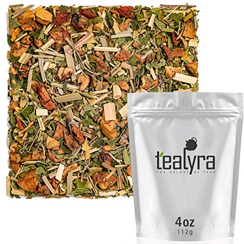 Tealyra - Citrus Sage - Herbal Loose Leaf Tea - Lemongrass - Orange - Goji - Lemon - Caffeine-free - Wellness Tea - 112g (4-ounce)