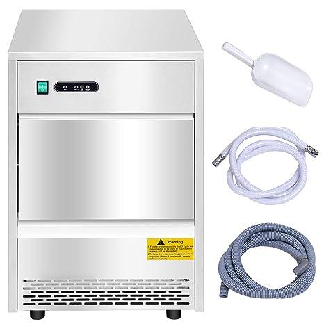 Costzon Commercial Ice Maker, máquina de hielo portátil de acero ...