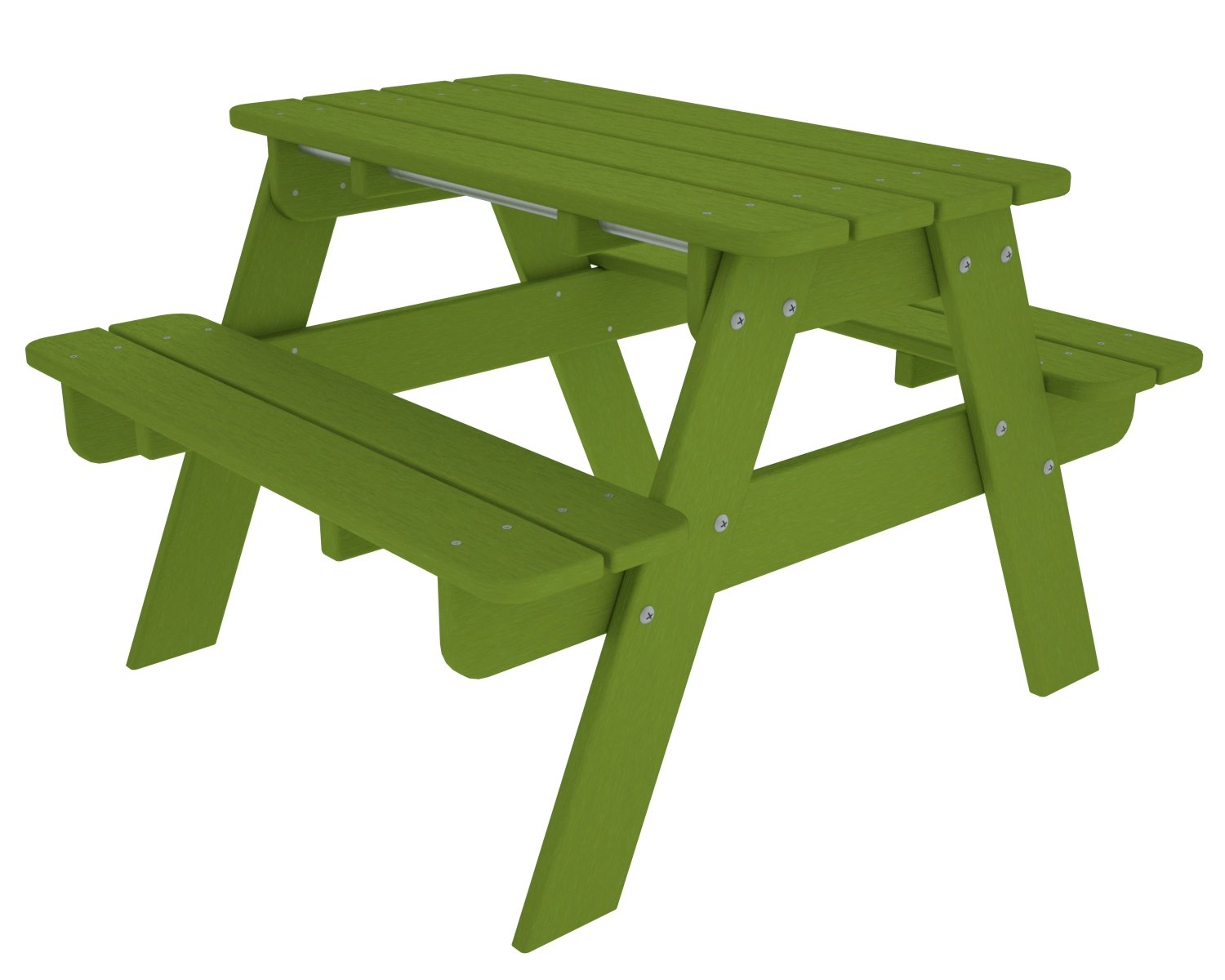 Amazon.com : POLYWOOD Outdoor Furniture Kid Picnic Table, Lime Recycled  Plastic Materials : Garden U0026 Outdoor