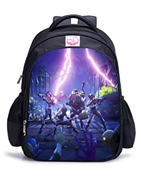 Memoryee Fortnite 3D juego de impresión Unisex School Bag Collection Mochila de lona portš¢til libro Satchel bolsa de senderismo - 15L/32 x 17 x 42 ...