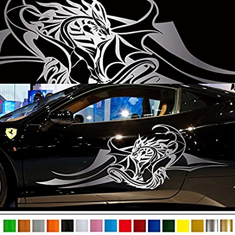 Dragon car sticker car vinyl side graphics pre63 car custom stickers decals 【8 colors to