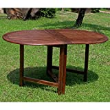 International Caravan VF-4119-IC Furniture Piece Highland Acacia Miami Oval Gate Leg Folding Dining Table