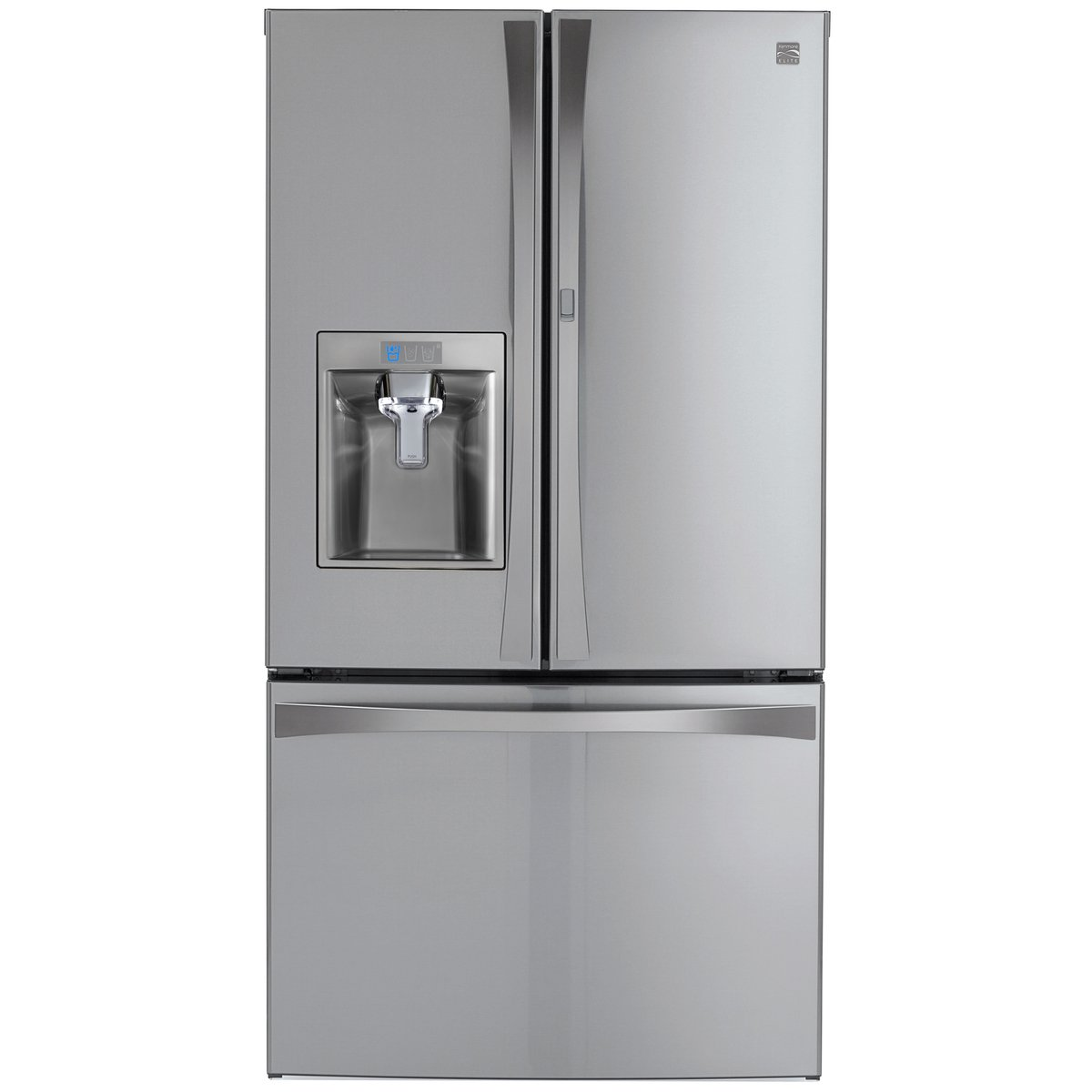 Kenmore Elite 73165 28.5 cu. ft. Bottom Freezer Refrigerator with Grab-N-Go Door in Stainless Steel with Active Finish, includes delivery and hookup