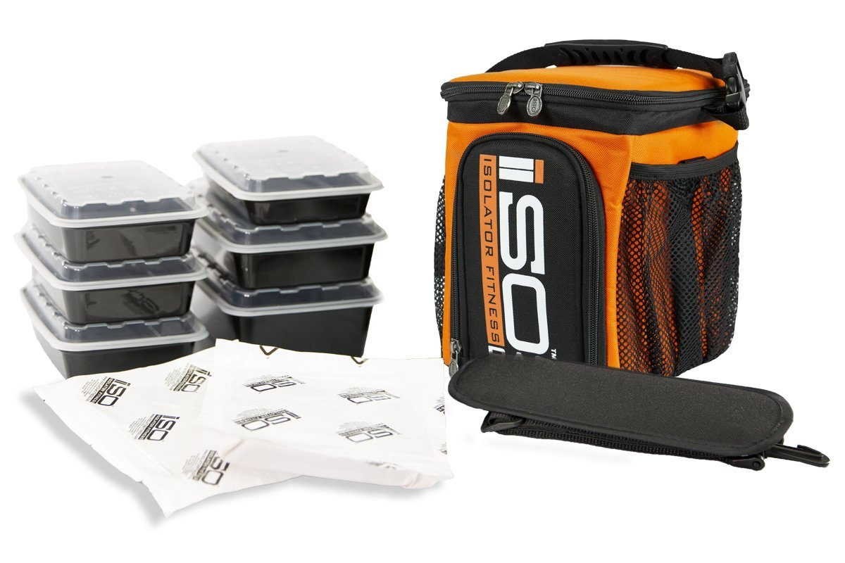 Isolator Fitness 3 Meal ISOCUBE Meal Prep Management Insulated Lunch Bag  Cooler with 6 Stackable Meal Prep Containers 11526e4f5fa1a