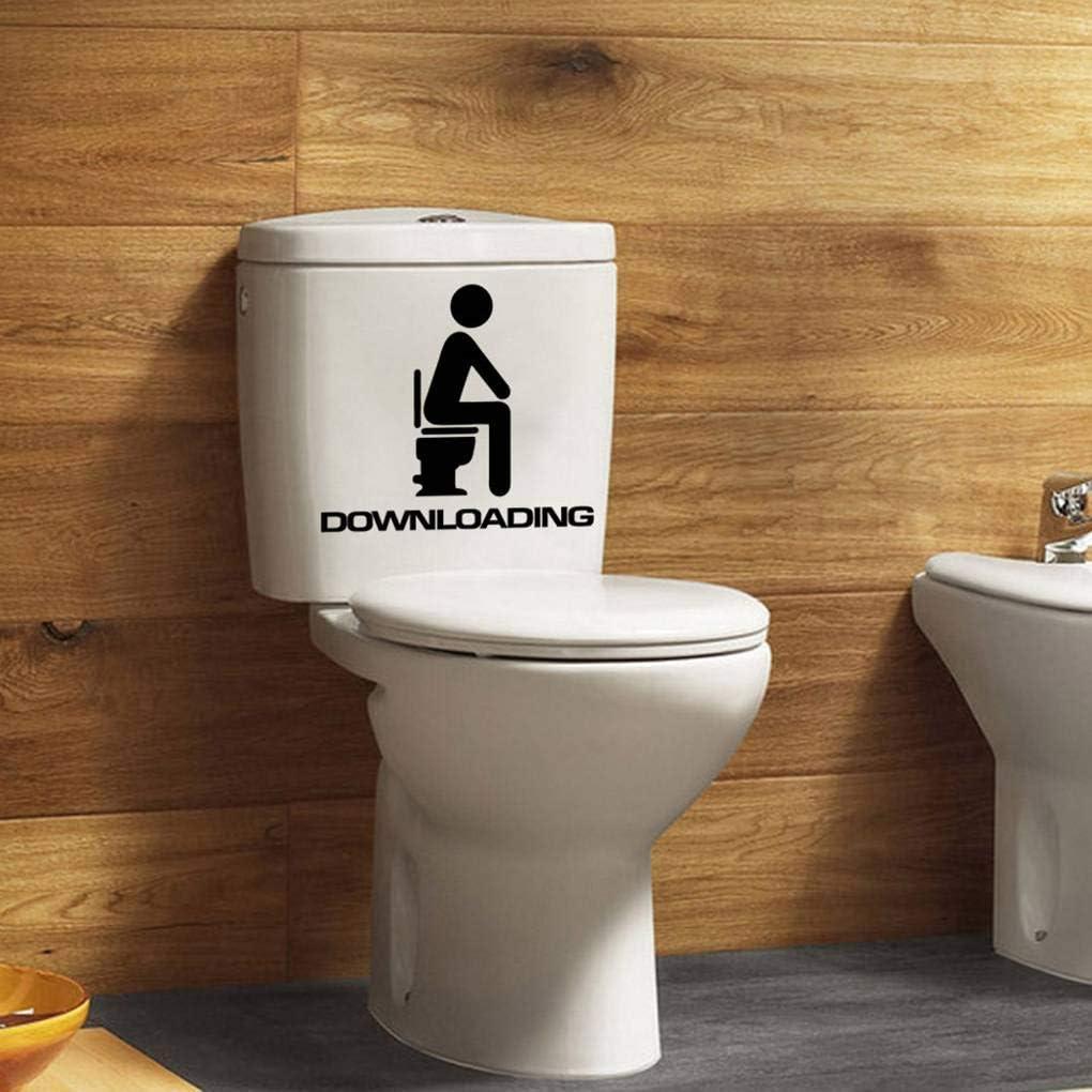 Jinghengrong Timlatte Unique Downloading Decal 13x15cm Bathroom Toilet Seat Waterproof Self-adhesive Sticker Sign