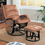 Bowery Hill Glider with Ottoman in Tan