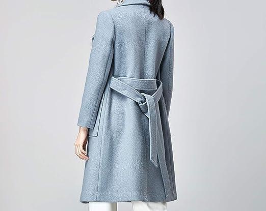 Amazon.com: Woolen Coat CoatsWoman Coat of Winter Double Breasted Long Casaco Feminino Vintage Abrigo: Clothing