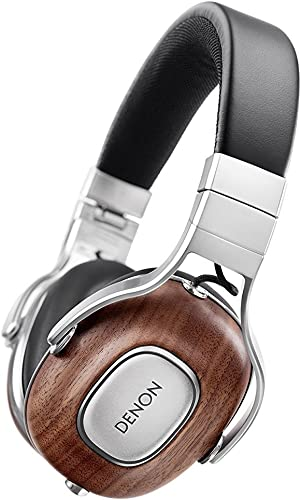 Denon AH-MM400EM Music MANIAC Over Ear Headphones 3 Button Remote Microphone with high-Resolution Sound Source corresponding Black