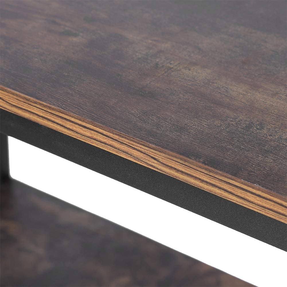 Soggiorno Stile Industriale Scaffale a 3 Ripiani per Divano Camera da Letto libreria Vintage per Ingresso Ingresso Zoternen Tavolo 90 x 81 x 38 cm