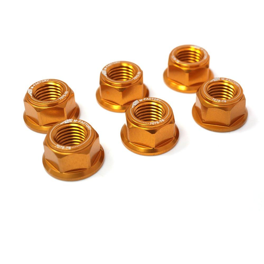Black CNC Racing Rear Sprocket Nuts Set For GSX-R 750 GSXR1000 GSF1200 SV650 Vstrom 650 TL1000R