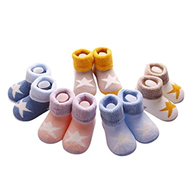 5PACK Newborn Baby Grils Boy Toddler Socks Cotton Cable Knitted Sock Winter Thickened Warm Ankle Socks