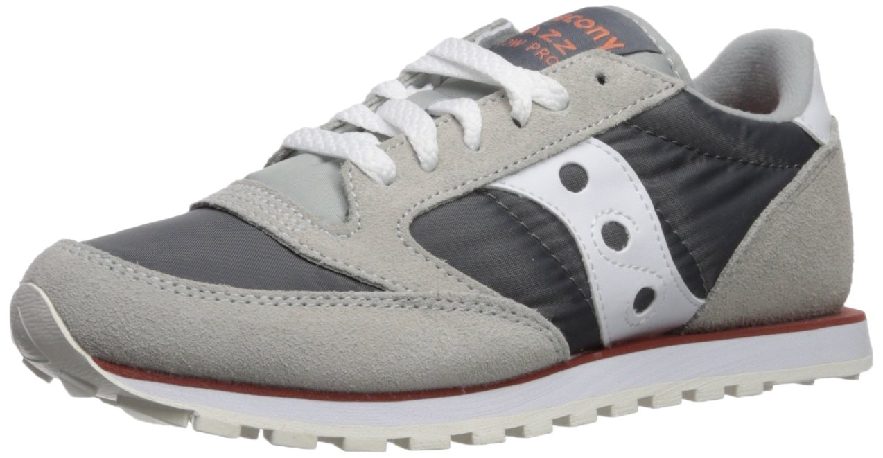 Saucony Women's Jazz Low Pro Running Shoe B071ZZMNSH 8.5 B(M) US|Grey/White
