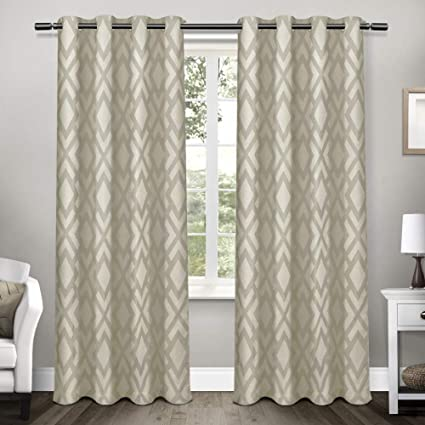 676fd88618bc0 Image Unavailable. Image not available for. Color  Exclusive Home Easton  Jacquard Blackout Grommet Top Curtain ...