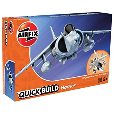 Airfix Quickbuild Harrier Plastic Model Kit: Toys & Games