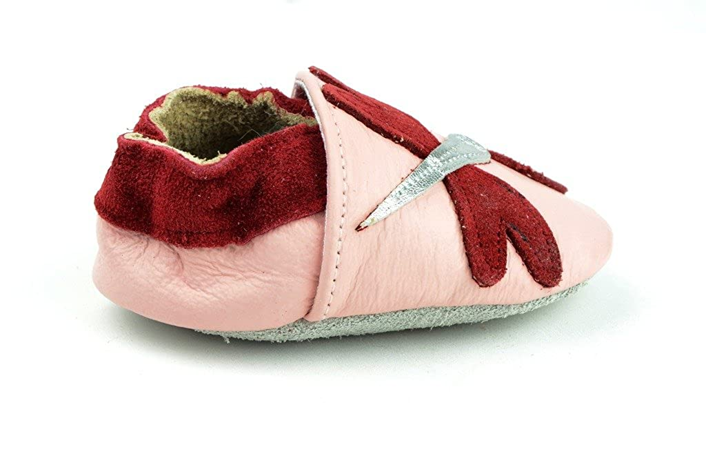Pink Firefly Kids Child Unisex Baby Girl Pre-Walker Leather Moccasin Slip-on Shoes