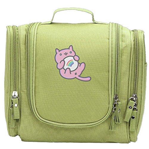 WSXEDC-id Pink Cat Women's Carry Designer Hanging Toiletry B