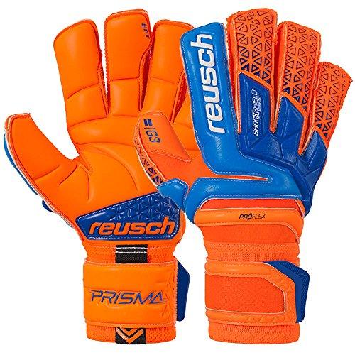Reusch Prisma Deluxe G3 Goalkeeper Glove, Orange/Blue, 8