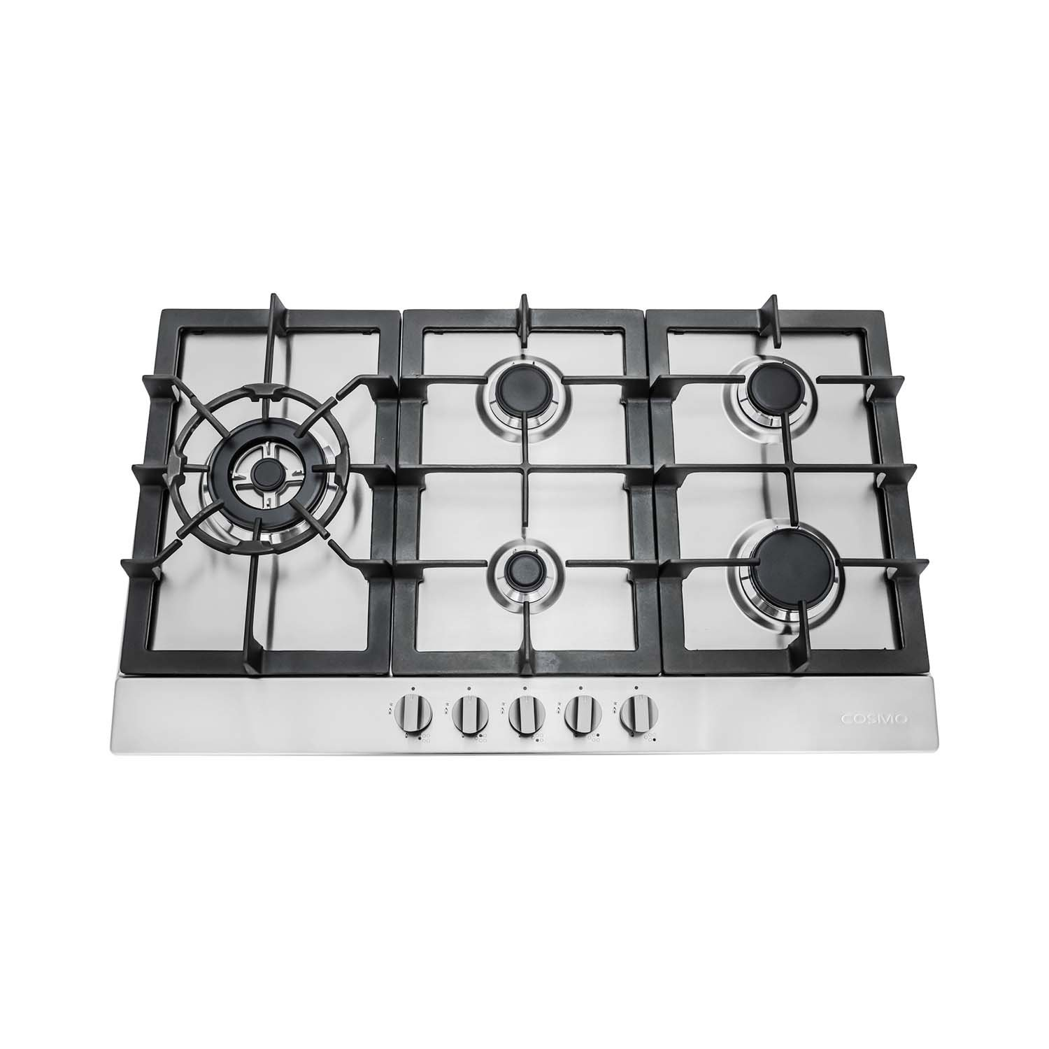 30 in. Stainless Steel Gas Cooktop with 5 Sealed Burners (850SLTX-E) Cosmo Kitchen Products