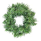 Deluxe Windsor Pine Green Artificial Christmas Wreath 6inch Unlit (Small Image)