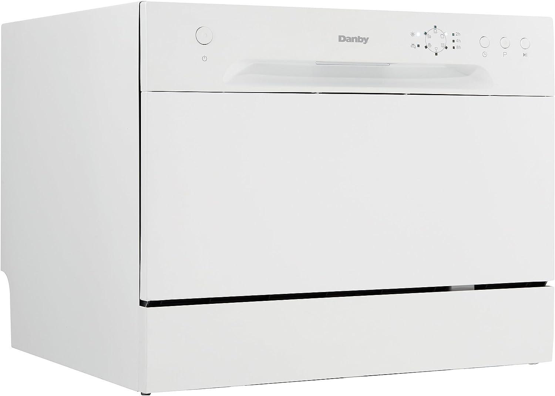Danby New Model DDW621WDB Countertop Dishwasher, White Fiv     k ...