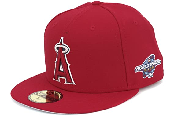 New Era Los Angeles Angels 2002 World Series Patch Fitted Hat Cap at ... e3205ec4066