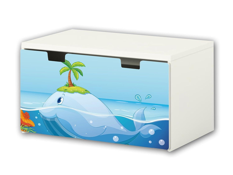 Underwater World Furniture Film | BT28 | Furniture sticker with butterfly Motive | matching to the children's storage bench STUVA of IKEA (90 x 50 cm) Furniture Not Included | STIKKIPIX STIKKIPIX®