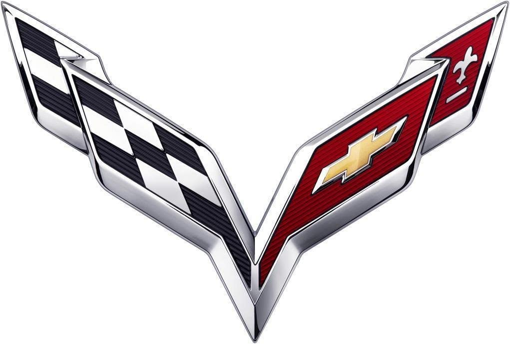 Small Trunk Emblem Piatek CV-C7S 2014 2015 2016 2017 Chevy C7 Corvette ARBON Flash Stingray Cross Flags Hood//TrunkChrome Emblem Badge Name Plate