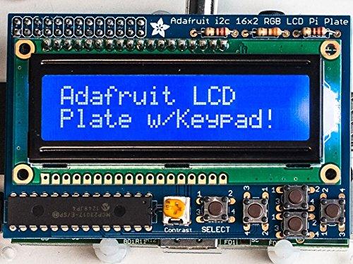 Adafruit Blue&White 16x2 LCD+Keypad Kit for Raspberry Pi [ADA1115] by Adafruit