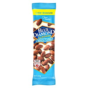 Blue Diamond Almonds, Low Sodium, Lightly Salted, 1.5 Ounce (Pack of 12)