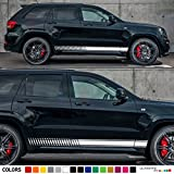 Set of Sport Side Stripes Decal Sticker Vinyl Compatible with Jeep Grand Cherokee WK2 Pentastar Hemi